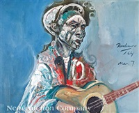 jewell babe stovall, blues guitarist (1907-1974) by noel rockmore