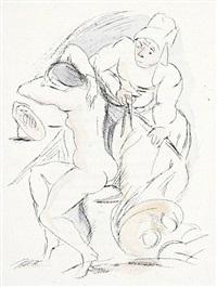 der gürtel (bk w/ 12 works, text by glaz von dietrich) by rudolf grossmann