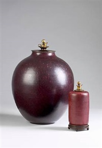lid vase by kresten bloch and knud andersen