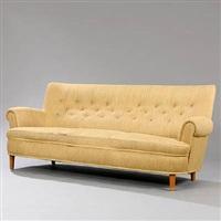 hemmakväll freestanding three seater sofa by carl malmsten