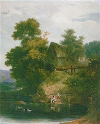 a water-mill near dunbane, perthshire by sir william allan