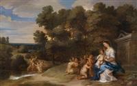 die rast der heiligen familie auf der flucht nach ägypten by peeter van avont