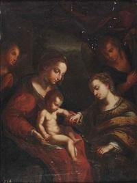 mystic marriage of saint catherine with saint sebastian by correggio
