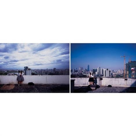 birds eye view shanghai birds eye view haikou 2 works by weng fen weng peijun