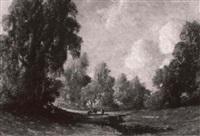 impressionistic pastoral scene by hermann (august) kruger