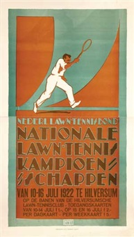 nationale lawn-tennis kampioenschappen hilversum (on joined sheets) by louis christian kalff