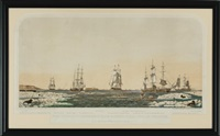 right whaling in behering straits & artic ocean with its varieties by john henry bufford