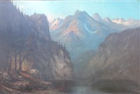 large mountainous landscape by george ernest colby