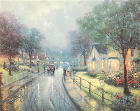 hometown memories i by thomas kinkade