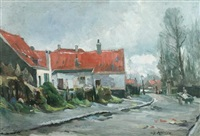 street scene, overcast afternoon by jan cornelis hofman