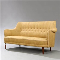 samsas freestanding three seater sofa by carl malmsten