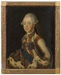 porträt des großfürsten pavel petrovich von russland, dem zukünftigen zaren paul i. (1754-1801) by jean voilles