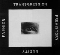 transgression, prehistory, nudity, fashion (hommage an man ray) by rob wynne