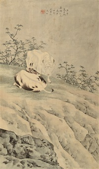 双牛 (cattles) by liu yongliang