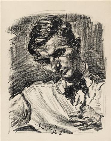 brustbild eines jungen mannes by ludwig meidner
