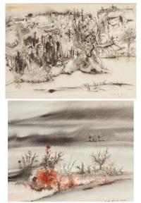phantastische landschaft (14 works) by casper walter rauh