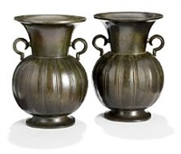 a pair of vases by just andersen