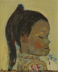 mädchenkopf im profil nach rechts by avni arbas