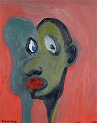 red portrait by george condo