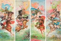 stories of ancient heroes (4 works) by fu lupei and li xuerong