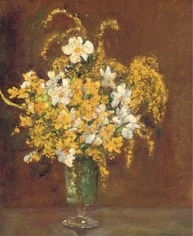 mimosa in a vase 3 others 4 works by james herbert snell