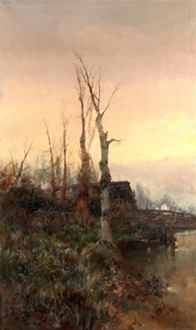 paisaje con embarcadero· by josé armet portanel
