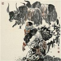 高原野牧 by li xiufeng