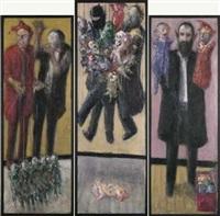 die puppenspieler (triptych) by alexander etz