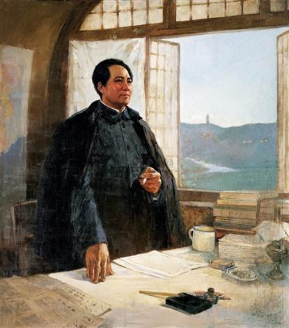 mao in yanan cave house by studio one of the central academy of arts by anonymous chinese 20