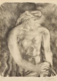 sitzender weiblicher akt by georges braque