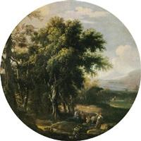 paesaggio con la fuga in egitto by angeluccio