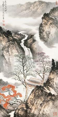 泉落山阁静 by ma jun