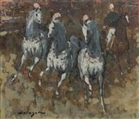 circus horses by denes de holesch