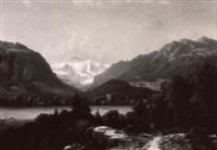 blick auf interlaken by julius edward w. helfft