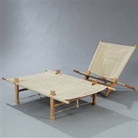 chair and daybed (set of 2) by ole gjerlov-knudsen