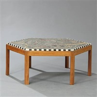 hexagonal coffee table by kay simmelhag