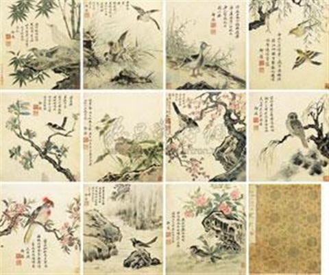 花鸟 album w12 works by zhou xi