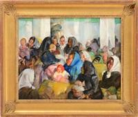 czechoslovaks with babies (from ellis island series) by martha walter
