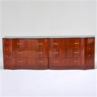 serpentine fourteen-drawer chest by grosfeld house