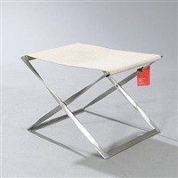 pk-91 folding stool by poul kjaerholm