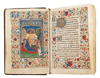 libro de horas (bk. w/ 4 works) (attributed to the studio of willem vrelant) by flemish school-bruges (15)