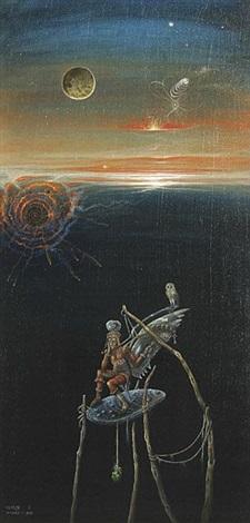 ikarus symbolische komposition by werner holz