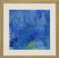 sailboats in edgartown harbor by francis chapin