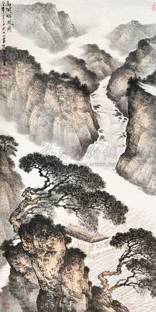 高阁临风图 by ma jun
