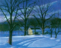 nocturnal winter landscape by wilmer richter