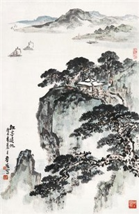 江亭归帆 by liu lusheng
