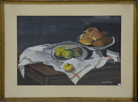 nature morte aux pommes by albert saverys