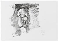 maria mit kind by siegfried anzinger