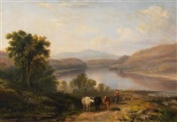 schottische landschaft (loch vennacher?) by john fleming
