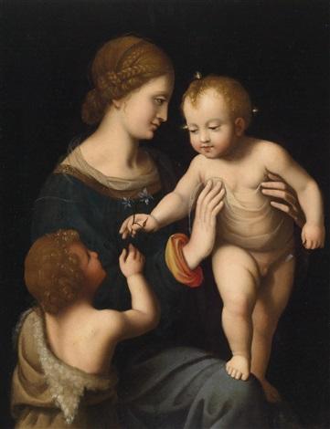 maria mit kind und dem johannesknaben by leonardo da vinci
